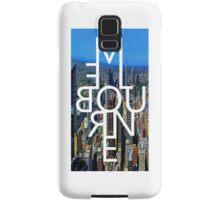 Melbourne - Mirror Text City View Samsung Galaxy Case/Skin