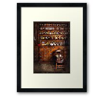 Apothecary - Just the usual selection Framed Print