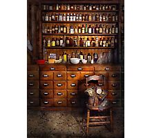 Apothecary - Just the usual selection Photographic Print