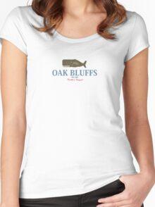 Oak Bluffs - Martha's Vineyard. Women's Fitted Scoop T-Shirt