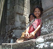 Girls of Angkor Wat, Cambodia by Remine