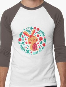 Spring Easter Bunny Men's Baseball ¾ T-Shirt