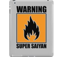 DBZ - Super Saiyan Warning iPad Case/Skin