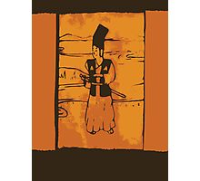 Samurai Wood Block Print Photographic Print