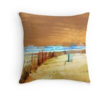 Snow Fence Throw Pillow