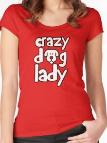 Crazy dog lady Women's Fitted Scoop T-Shirt