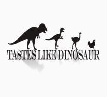 Tastes Like Dinosaur (text-shadow) Tee Baby Tee