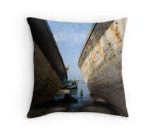 Going Fishing - Yemen Throw Pillow