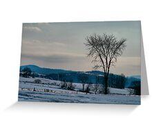 Berkshire Landscape Scene Greeting Card