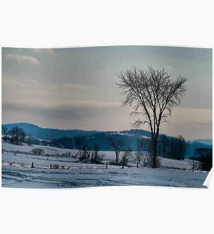 Berkshire Landscape Scene Poster