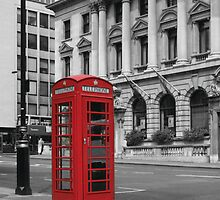 Phone Booth, London by Remine