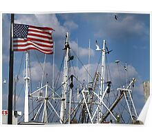 Flag Over Masts Poster