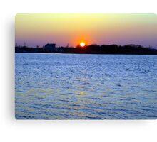 Sunset Over Barnegat Bay in Ortley Beach, NJ Canvas Print