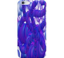 Blue And Purple Bubble Invasion iPhone Case/Skin