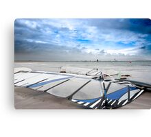 wind surfers braving the Atlantic winds Canvas Print