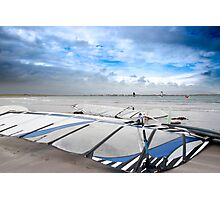 wind surfers braving the Atlantic winds Photographic Print