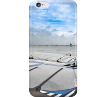 wind surfers braving the Atlantic winds iPhone Case/Skin
