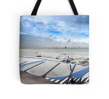wind surfers braving the Atlantic winds Tote Bag