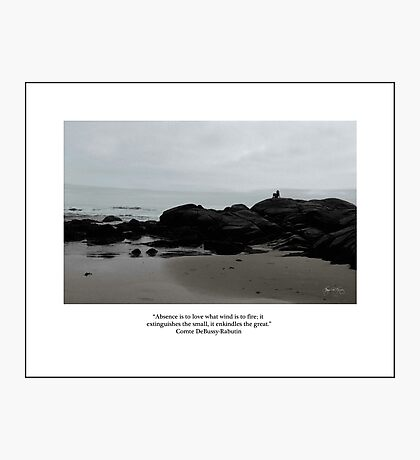 Absence to Love, Solitude at Goose Rocks Beach, York, Maine Photographic Print