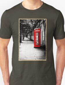 London Calling - Classic British Red Telephone Box Unisex T-Shirt