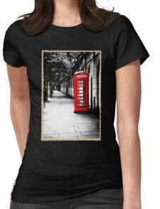 London Calling - Classic British Red Telephone Box Womens Fitted T-Shirt