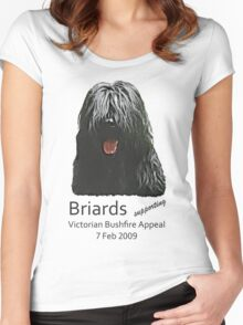 Black Briards supporting Bushfire Relief Women's Fitted Scoop T-Shirt