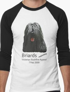 Black Briards supporting Bushfire Relief Men's Baseball ¾ T-Shirt