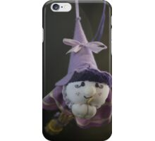witch on broom iPhone Case/Skin