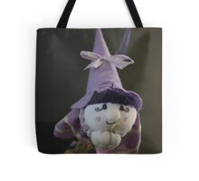 witch on broom Tote Bag