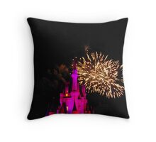 Wishes Fireworks- Magic Kingdom Throw Pillow