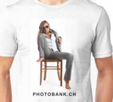 Girl sitting on the chair so sexy Unisex T-Shirt