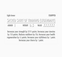 Sacred Shirt of Training (Legendary) white Baby Tee