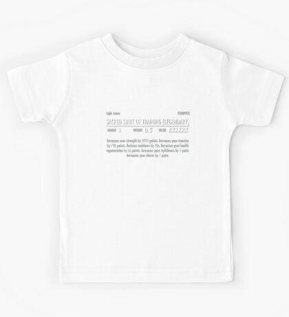 Sacred Shirt of Training (Legendary) white Kids Tee