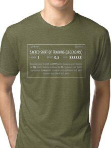 Sacred Shirt of Training (Legendary) white Tri-blend T-Shirt