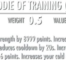 Sacred Hoodie of Training (Legendary) white Sticker