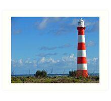 Stripy Lighthouse Art Print