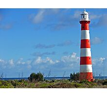 Stripy Lighthouse Photographic Print
