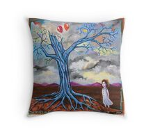 'Time is like a loosed balloon caught in a tree dreaming of the sky' Throw Pillow