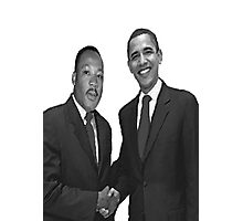 Dr Martin Luther King and Barack Obama Photographic Print