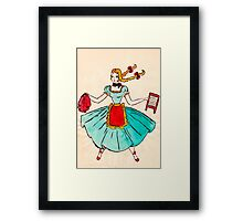 Laundry the old way.....very old way. Framed Print
