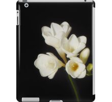 Purity: A White on Black Floral Study iPad Case/Skin