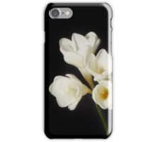 Purity: A White on Black Floral Study iPhone Case/Skin
