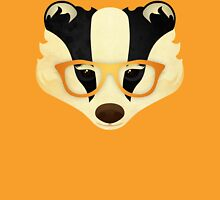 Hipster Badger: Gold Unisex T-Shirt
