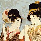 Asian Art Geishas by Zehda