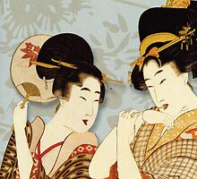 Asian Art Geishas by Zehda