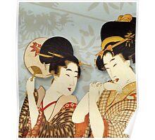 Asian Art Geishas Poster