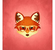 Hipster Fox: Rose Photographic Print