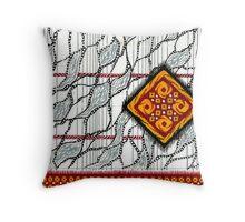 Saree Design 2 Throw Pillow