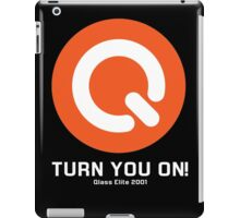 Turn You ON! - Q-Dance '01 New Logo Campaign -White Font- iPad Case/Skin