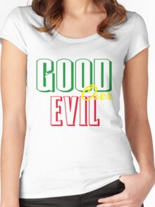 GOOD OVER EVIL Women's Fitted Scoop T-Shirt